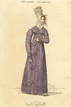 Historic drawing of a woman of distinctive style
