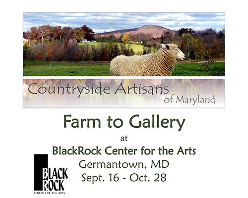 Farm to Gallery art exhibit poster