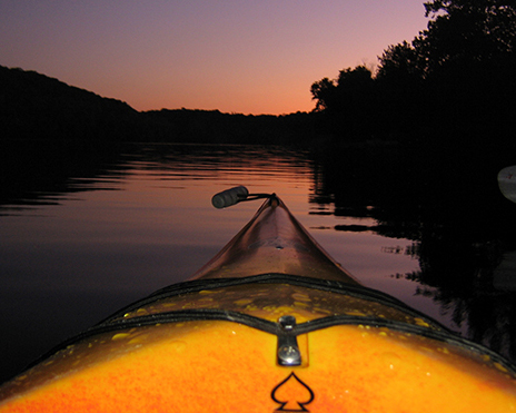 Photo of a sunset float