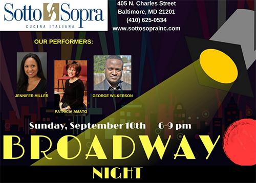 Broadway Night & Italian Dinner poster