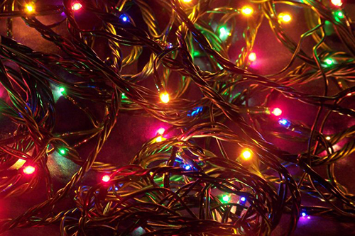 photo of red, green and yellow holiday lights