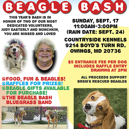 Beagle Bash Flyer 2017