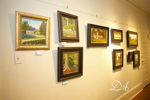 2016 Plein Air Festival Paintings in a Gallery