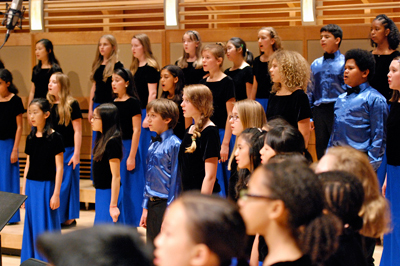 Strathmore Children's Chorus perform on stage