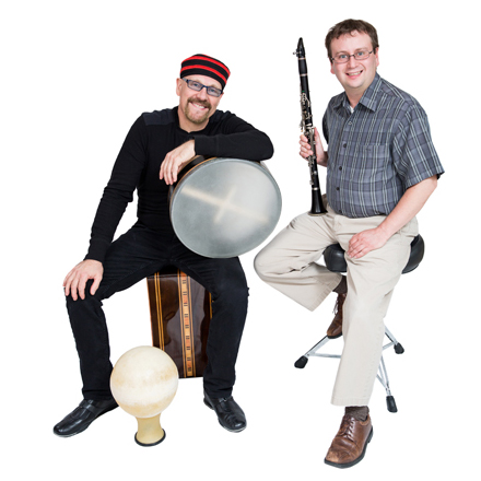 Tom Teasley & Seth Kibel with instruments