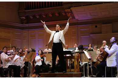The Boston Pops on stage