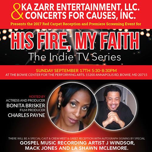 His Fire My Faith Premiere flyer