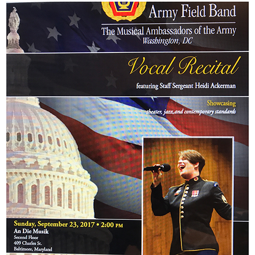 Vocal Recital - US Army Field Band Chamber Music poster