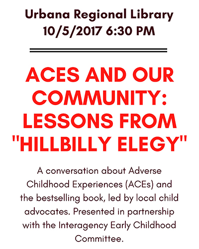 Hillbilly Elegy event poster