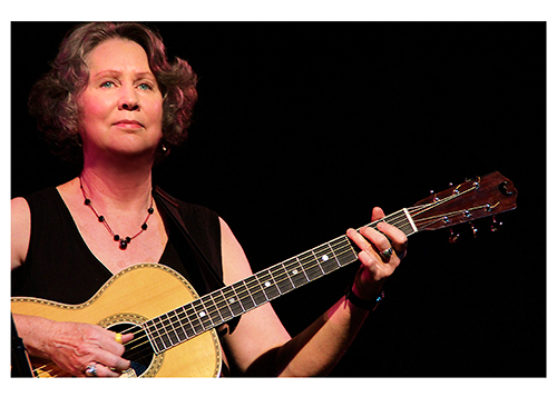 Acoustic blues guitarist Mary Flower