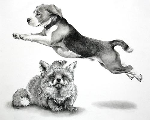 Artwork by Ellen Cornett, The Quick Brown Dog