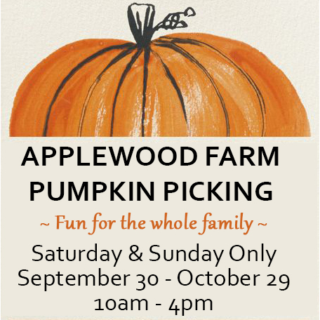 Pumpkin Picking at Applewood Farm poster