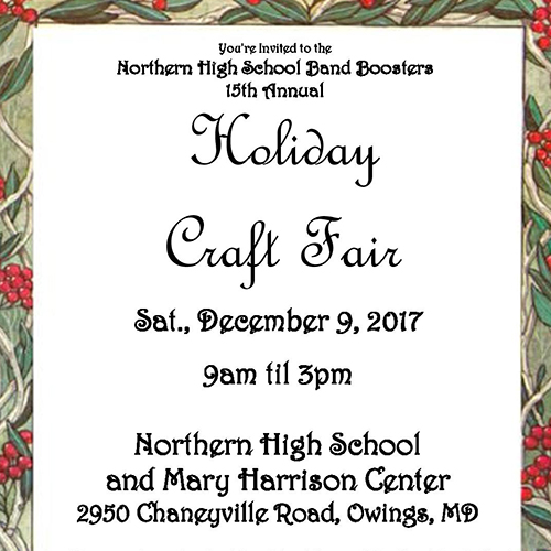 Holiday Craft Fair flier