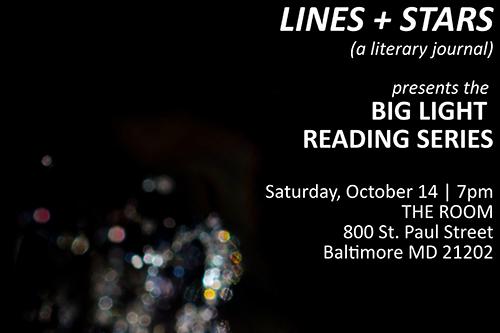 Big Light Reading Series flyer.