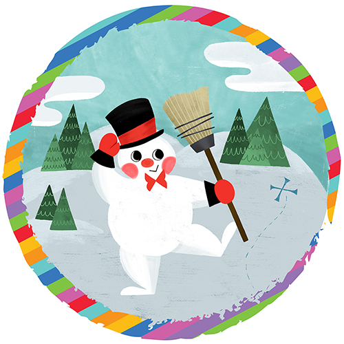 Drawing of Frosty the Snow Man