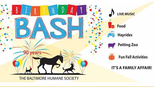 Baltimore Humane Society Birthday Bash poster
