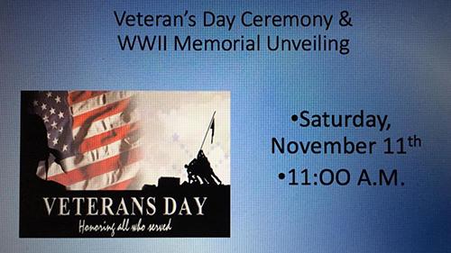 Williamsport American Legion Post 202 WWII Memorial Unveiling