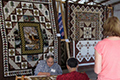 Quilts on display at the Country Fest & Auction