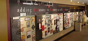 Display at Maryland Women's Heritage Center and Museum