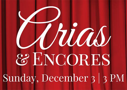 Arias & Encores concert poster