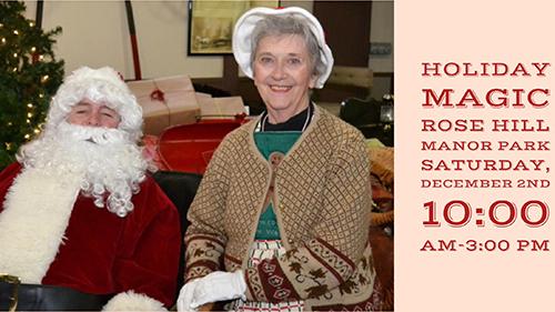 Santa and the Mrs. at Holiday Magic