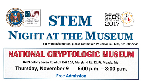 2017 STEM Night at the Museum flyer