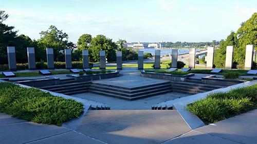 WW II Memorial Overlooking Severn River
