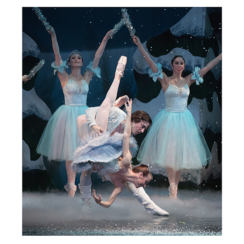 The Nutcracker dancers perform on stage