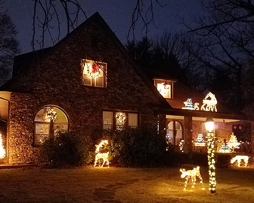 A decorated home from last year's tour
