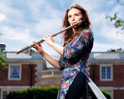 Flautist Gina Sobel