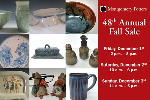 Montgomery Potters Annual Sale poster