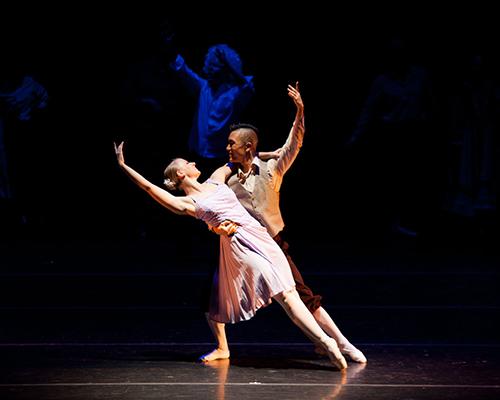 Dancers Spenser Shanahan and Chris Cho