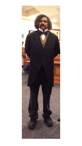 Actor Steve Cole as Frederick Douglass 1864