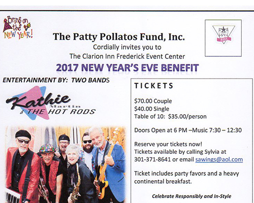 Flyer for New Years Eve Benefit