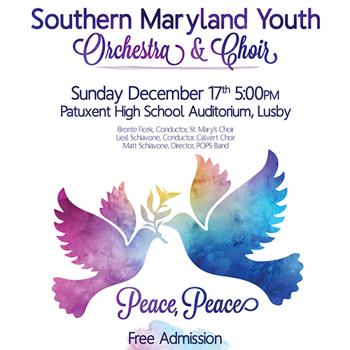 Holiday Concert 'Peace, Peace' poster