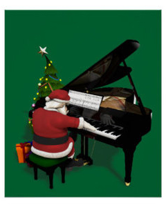 Santa playing the piano