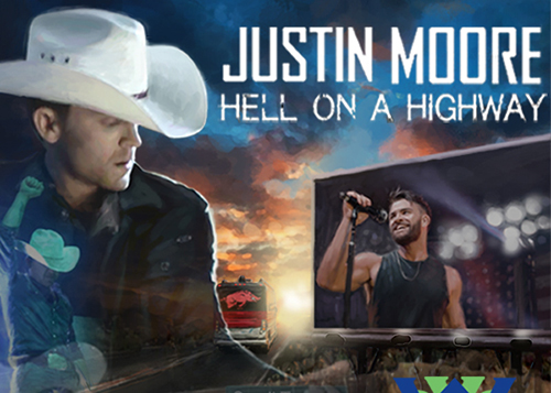 Justin Moore and Show Poster