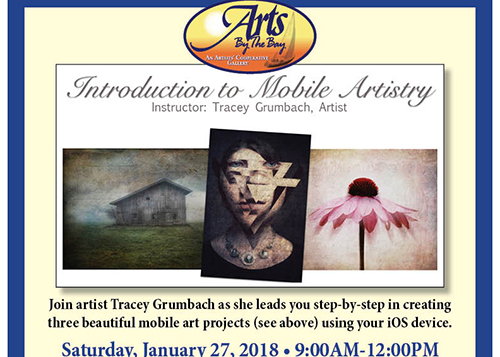 Arts by the Bay Intro to Mobile Artistry poster