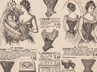 Photo of 19th century clothing advertisement.