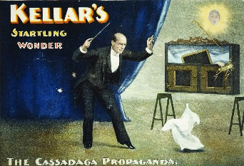 Old-timey image of magic performance