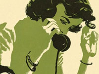 Picture of a woman on the phone.