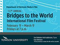 Poster advertising Bridges to the World International Film Festival.