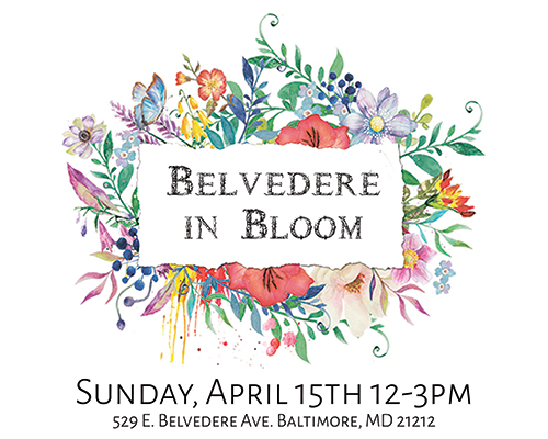 Belvedere in Bloom flyer