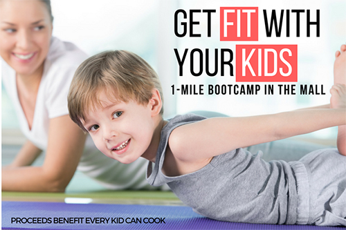 Get fit with your kids poster