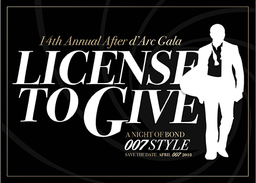 After d'Arc Gala James Bond 007 Invitation