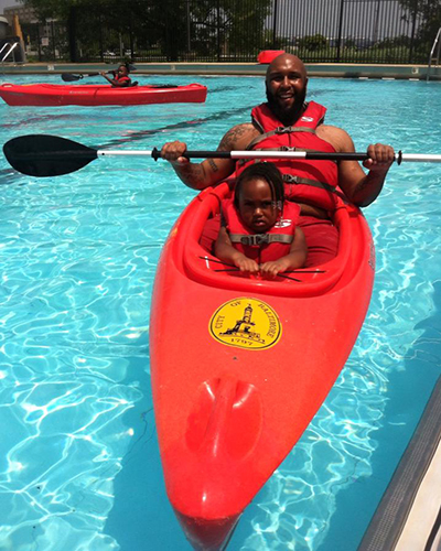 Kayaking in Cherry Hill Splash Park