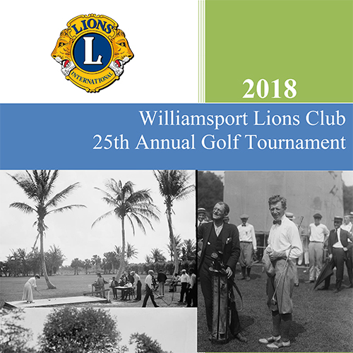 Williamsport Lions Club Golf Tournament flyer