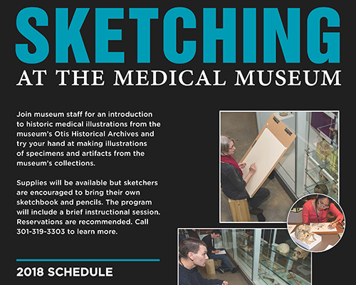 Sketching at the Medical Museum flyer