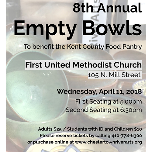 Flyer for Empty Bowls 2018