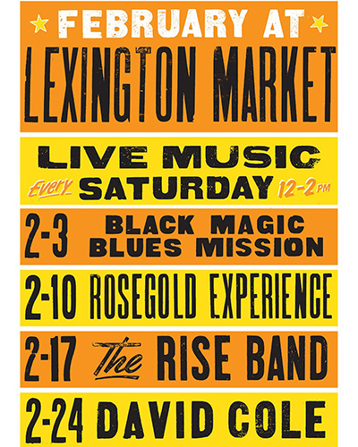 Lexington Market Black History Month Concerts